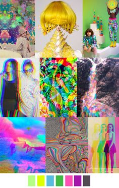 Holographic fashion inspiration A/W 2016 Fashion Colours, Colorful Fashion, Color Patterns, Print Patterns, Acid Trip, Polaroid, Fashion Forecasting, 2015 Trends, Color Stories