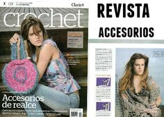 Revista con accesorios de crochet