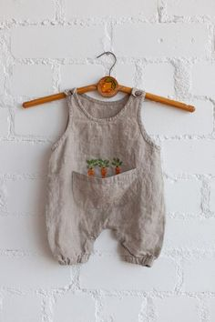 dacf1f2afc05f Linen Jumpsuit, Natural Baby Overall, Linen Overall, Baby Overall, Baby  Jumpsuit, Hand Embroidery, Jumpsuit, Girl Jumpsuit, Boy Jumpsuit