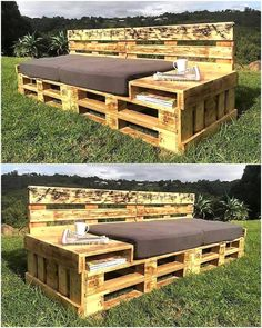 This is another wonderful piece that we have created in an manner to provide you best wood pallets couch with storage capacity. This pallets couch seems best to fulfill your seating needs in your living room as well as in your garden area. The artistic arrangement of used wood pallets is making this innovation an ideal one.
