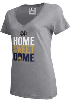 Home Sweet Dome Under Armour University of Notre Dame Women's V-Neck T-Shirt