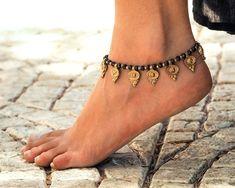 Bracelet de cheville à la main / / femmes cheville / / Bracelet de cheville femmes / / Hippie bracelet de cheville / / bracelet de cheville de plage / / Oriental bracelets de cheville / / fait sur commande bracelet de cheville