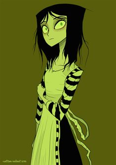 London Alice by Cotton Valent Arte Tim Burton, Tim Burton Style, Alice Liddell, Alice Madness Returns, Adventures In Wonderland, Alice In Wonderland, Arte Emo, Character Art, Character Design