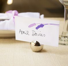 Lavender Flowers Place Cards from Wine Country Occasions