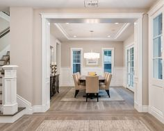The Vernal Collection Como by DuChateau looks beautiful in this Hamptons style home! Die Hamptons, Hamptons Style Homes, Hamptons Decor, Home Renovation, Home Remodeling, Casa Patio, Dining Lighting, Dining Room Design, Home And Living
