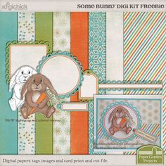 Some Bunny mini kit freebie from Paper Garden Projects