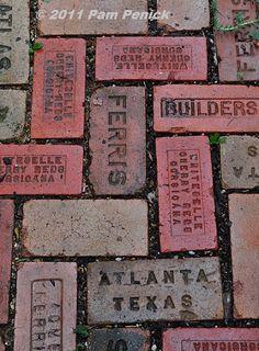 Old bricks path