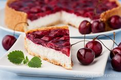 Cherry Coconut Greek Yogurt Tart