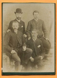 An old cabinet card by Alfred Poole, Morecambe, England, circa 1880s. Lancaster, Kingston New York, Morecambe, Upper Peninsula, Great Britain, Vintage Men, England, Cabinet, Portrait