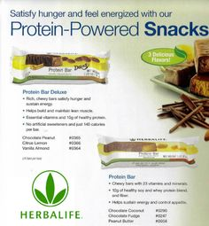 Herbalife has the most delish protein bars. 321-594-0446 or AliveandFit@yahoo.com to order