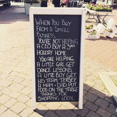 Small business sign -  Does buying in bulk save money, or is it a false economy?
