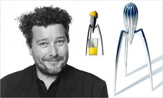 Philippe Starck & Juice Salif.  He came to my father's company to fabricate this design, but my father didn't understand it and laughed it off. He did receive one of these as a gift, though, and it sat in my parent's kitchen for many years.