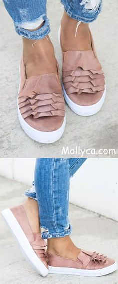 Buy 2 Got 5% OFF Code: mollyca   Casual Canvas Loafers 3D Round Toe Flats