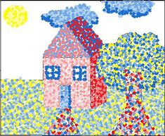 Primary Pointillism House - The Art Classroom: Elementary