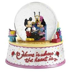 Disney Home Is Where the Heart Is Snowglobe