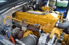 A 1993 GMC with a 300 hp, 800 lb-ft Caterpillar engine swap. Ls Engine Swap, Truck Engine, Cummins Diesel Engines, Diesel Trucks, Diesel Rat Rod, Peterbilt Trucks, Chevrolet Trucks, Cool Trucks, Big Trucks