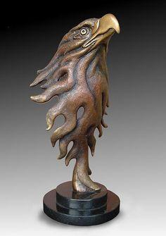 Winged creatures in bronze