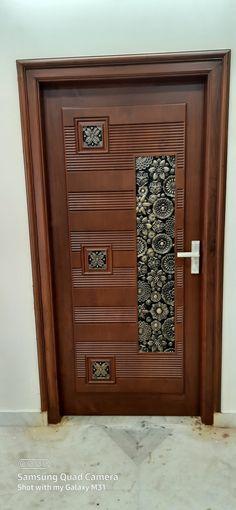 Pooja Door Design, House Main Door Design, Main Entrance Door Design, Home Door Design, Wooden Front Door Design, Double Door Design, Door Design Interior, Entrance Doors, Wooden Doors