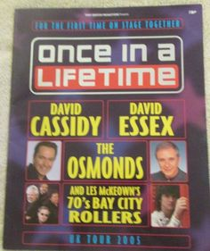 Once In a Lifetime 2005 David Cassidy David Essex The Osmonds Bay City Rollers David Essex, Bay City Rollers, The Osmonds, David Cassidy, Once In A Lifetime, Ebay