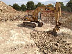 Escavação em parque eólico.