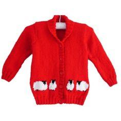 Child's Sheep Jacket Knitting pattern by iKnitDesigns