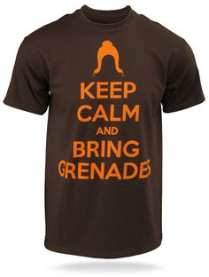 I already have a cunning hat <3 Jayne : Keep Calm and Bring Grenades T-Shirt
