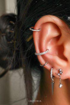 Hair Jewelry, Women Jewelry, Jewellery, Easy Bun Tutorial, Cute Ear Piercings, Piercing Ideas, Hair And Nails, Makeup, Earrings