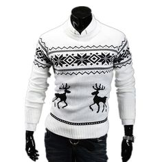 >> Click to Buy << 2015 Top quality Autumn Winter Slim Round Neck mens sweaters Stylish Trendy sweater The deer pattern Pullover Sweater CHOLYL #Affiliate
