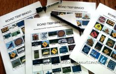 Printable Road Trip Bingo game for kids when you travel.  Keep them busy instead of fighting! | www.thecrazynutsmom.com