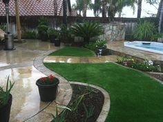 Check out our install of the week! EasyTurf was the perfect finishing touch for these homeowners. Could EasyTurf help your backyard? www.easyturf.com l backyard l outdoor living l artificial grass l fake grass l turf