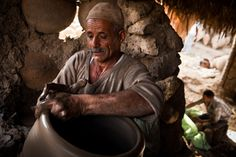 Man doing pottery in Fayoum, Egypt
