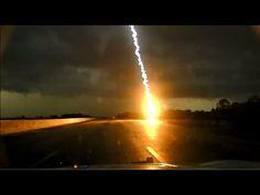 Police Dash Cam Lightning Strike - YouTube