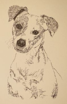 Dog art drawn entirely from the words Jack Russell. See all the breeds at: drawDOGS.com I can add your dogs name in the art.