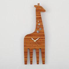 Giraffe Modern Wall Clock in Clocks | The Land of Nod