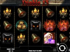 Diablo 13 - http://freeslots77.com/diablo-13/ - Now introduce yourself to the world of black magic and horrible demons with the Diablo 13 online slot machine. Developed by Pragmatic Play, the 5-reel and 13-payline slot game comes with free spins and a bonus game that will help you winning huge in this game. Apart from this, you will have the...