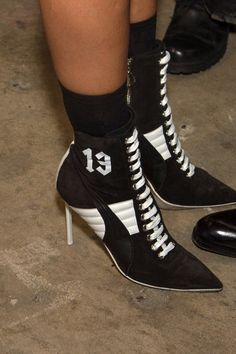 Pin for Later: Step Inside Rihanna's Fashion Week Show The Shoes Were a Heeled Riff on High Tops