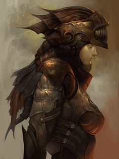 warrior woman / valkyrie/ female knight in heavy armor