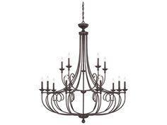 Savoy House Langley English Bronze 15-Light 50'' Wide Grand Chandelier