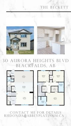 "If Blackfalds is where you want to call home ""The Beckett"" at 30 Aurora Heights BLVD. Blackfalds, AB beckons! This is a great Two-Story that's ready to move in! email rhdonda@abbeyplatinum.ca Second Story, Aurora, Abs, Floor Plans, Photo And Video, Instagram, Home, Crunches, House"