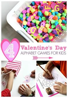 Play and learn your alphabet with hearts this Valentine's Day. Fun games and activities for kids to play to help master their ABC's. Check out these crafts and fun for V-day Alphabet Games, Teaching The Alphabet, Alphabet Crafts, Preschool Alphabet, Abc Games, Puzzle Games, Alphabet Letters, Preschool Games, Kindergarten Activities