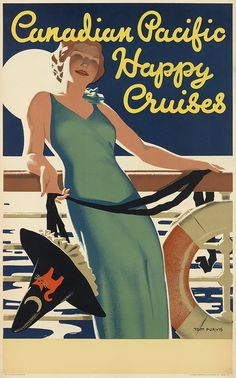 CANADA - TOM PURVIS (1888-1959) CANADIAN PACIFIC / HAPPY CRUISES. 1937.