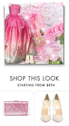 """""""Pink fairytale!"""" by asia-12 ❤ liked on Polyvore featuring Naeem Khan, Edie Parker, Christian Louboutin and Judith Ripka"""