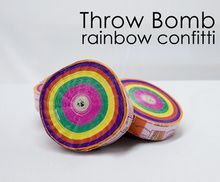 Throw Bomb, Rainbow - 6 Pack