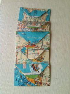 Tiny Map Envelopes Vintage Paper Journal Scrapbook by VelvetSoup, $3.75