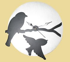 Birds design wooden #clock buy online from #craftshopsindia