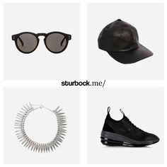 Sonnenbrille von Komono, Ledercap von American Apparel, Halskette von Blond und Lunar Elite Sky Sneaker von Nike. Hier entdecken und shoppen: http://www.sturbock.me/guide/