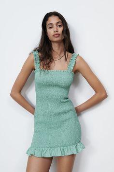 TEXTURED WEAVE DRESS   ZARA United States Zara United States, Zara Dresses, Formal Dresses, Stuff To Buy, Clothes, Shopping, Weave, Fashion, Italia