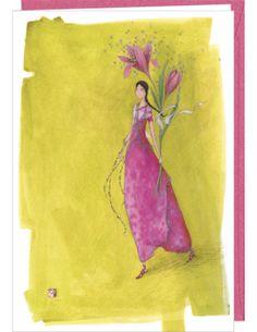 """Carte double Gaëlle Boissonnard """"Fleurs et papillons"""""""