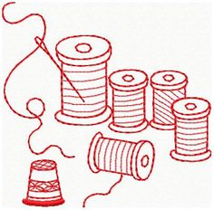 Machine Embroidery Designs - Redwork Sewing Designs