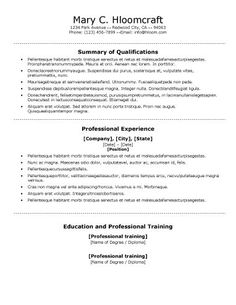 Ats Resume Format Best Free Call Out Resume  Professional  Pinterest  Template